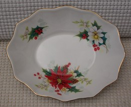 Royal Albert Christmas POINSETTIA China OVAL SWEET MEAT DISH Candy Nut E... - $10.71