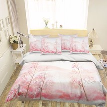 3D Pink Trees 22 Bed Pillowcases Quilt Duvet Cover Set Single Queen King Size AU - $90.04+