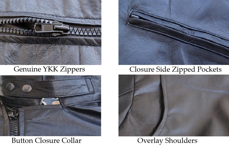 NWT Black Iron Man Fashion Stylish Sexy Premium Genuine Leather Jacket -All Size image 7