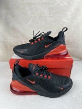 Nike Air Max 270 GS 'Bred' Black/Chile Red DC1996-001 Youth Size 7y Women's 8.5 - $197.95
