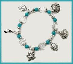 Tropical Ocean Sea Shells Charm Bracelet New image 1