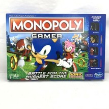 Monopoly Gamer Sonic the Hedgehog Board Game - Used Very Good Condition - $8.99