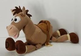 "Disney Store Toy Story Woodys Horse Bullseye  Plush 16"" Stuffed Animal Toy - $16.44"