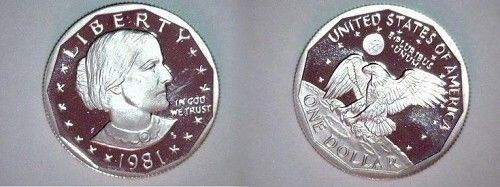 1981 S PROOF SBA DOLLAR