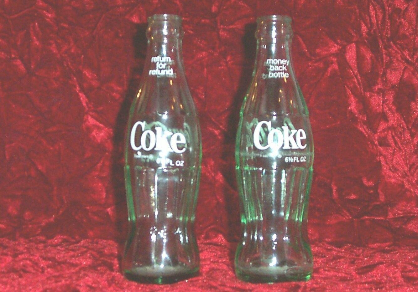 Two Vintage 6 1 2 oz Coca Cola Bottles