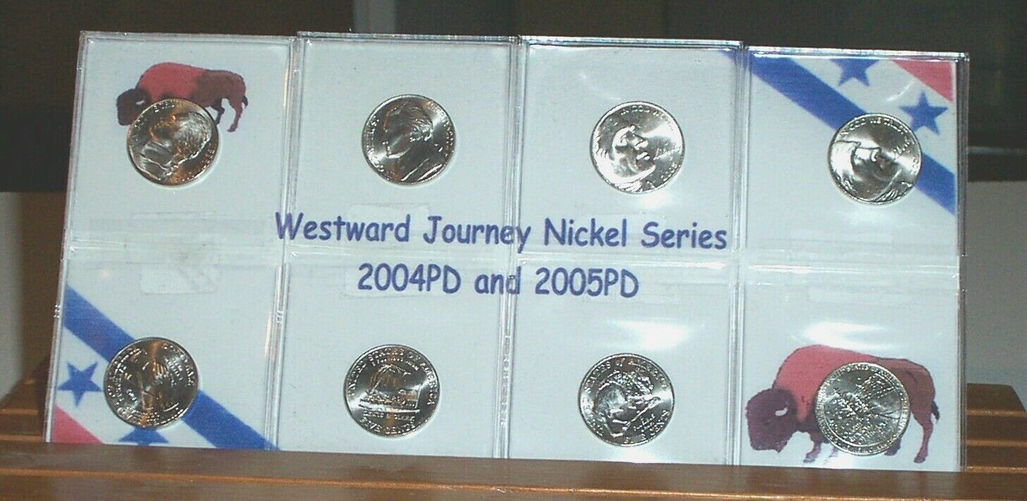 Two   COMPLETE SET UNC WESTWARD JOURNEY NICKEL SERIES