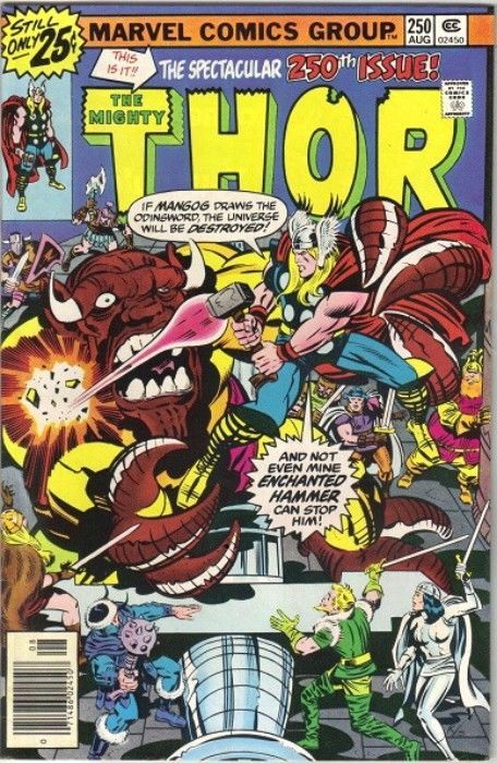Primary image for The Mighty Thor Comic Book #250 Marvel 1976 FINE-