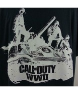 Call of Duty WWII Video Game Gamer Graphic Mens Black T Shirt Sz 3XL - $24.09