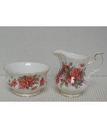 CENTENNIAL ROSE Royal Albert MINI CREAMER & OPEN SUGAR BOWL China Englan... - $20.60