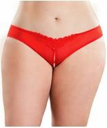 OH LA LA CHERI Red Crotchless Pearl Thong, US 3X/4X, NWOT - $8.91