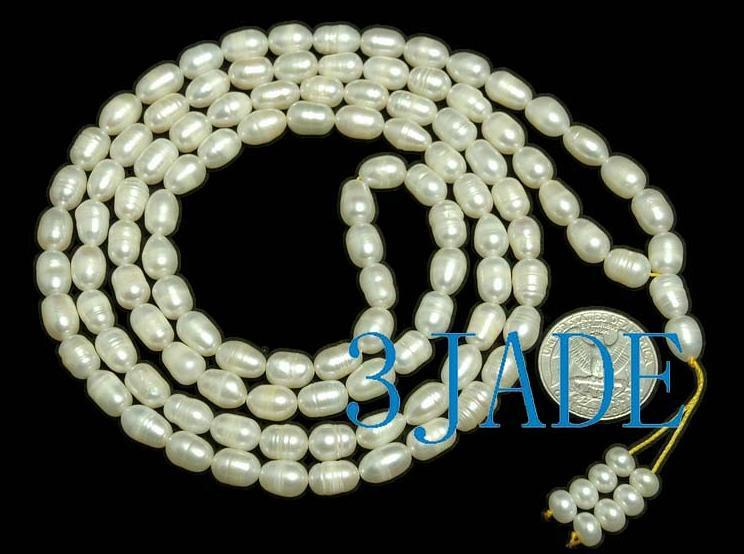 "44"" Natural Pearl Meditation Yoga 108 Prayer Beads Mala"