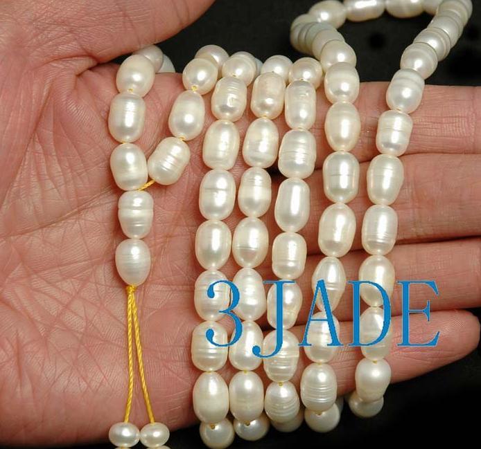 "44"" Natural Pearl Meditation Yoga 108 Prayer Beads Mala image 3"