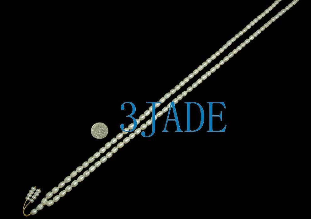 "44"" Natural Pearl Meditation Yoga 108 Prayer Beads Mala image 2"