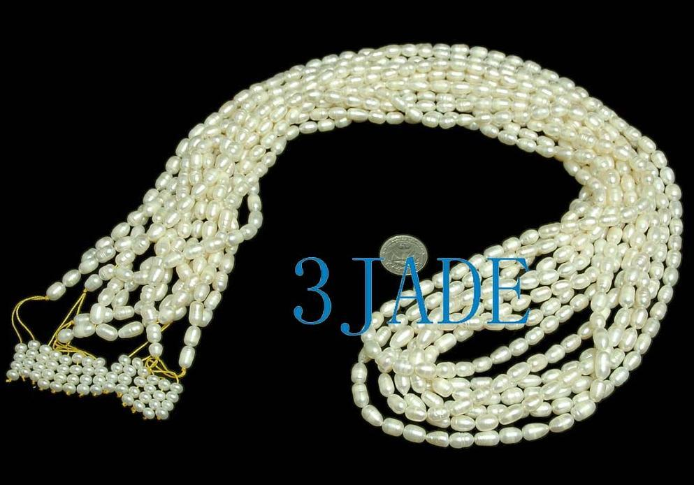 "44"" Natural Pearl Meditation Yoga 108 Prayer Beads Mala image 4"