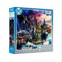 1000 Piece Jigsaw Puzzle Thomas Kinkade DC Justice League Showdown Gotham Pier - $21.80