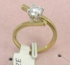 VINTAGE18k GF 6m brilliant CZ  ENGAGE/COCKTAIL sz 6-7-8 image 2