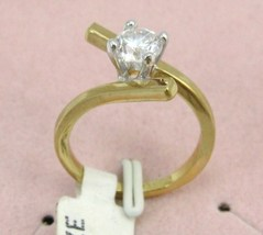 VINTAGE18k GF 6m brilliant CZ  ENGAGE/COCKTAIL sz 6-7-8 image 3
