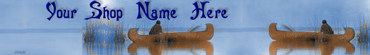 Web Banner Native Americans Canoeing Custom Designed  70a image 2