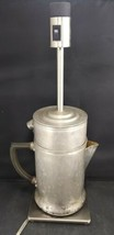 VINTAGE CRAFTSMAN LAMP : STOVE TOP PERCOLATOR COFFEE POT W/2 HIDDEN STAS... - $24.75