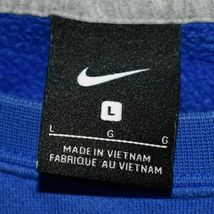 Nike Men's Blue Pullover Crew Neck Club Fleece Sweatshirt Embroidered Swoosh L image 3