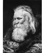 MAGUS Greek the Oldest King Gaspar - 1876 ETCHING Print after Painting b... - $71.96