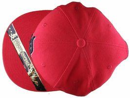 Dissizit Mens Dx Bones English D Red Snapback Baseball Hat Cap Slick Compton NW image 6