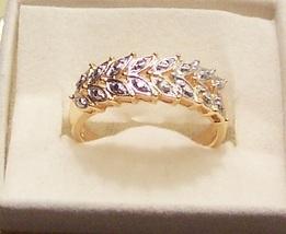 Diamond Accent Leaf Ring image 2