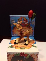 Enesco The North Pole Village Dandy The Reindeer With Balloons #871834 In Box - $30.00