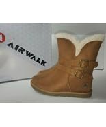 AIRWALK Women's Nia Faux Fur Cognac Faux Suede Cozy Boots Size 6.5 - $25.00