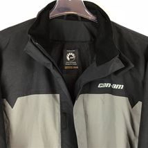 CanAm BRP XXL Mens Rain Riding Jacket 2XL FLAWED Nylon Black Spyder NWT A9-21 image 3