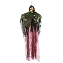Halloween Haunters Hanging 7 Foot Scary Wicked Witch, Speaks Cackle Laug... - €19,56 EUR