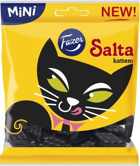 Fazer Salta Katten Salmiak 80 gram Licorice Made in Finland - $5.99