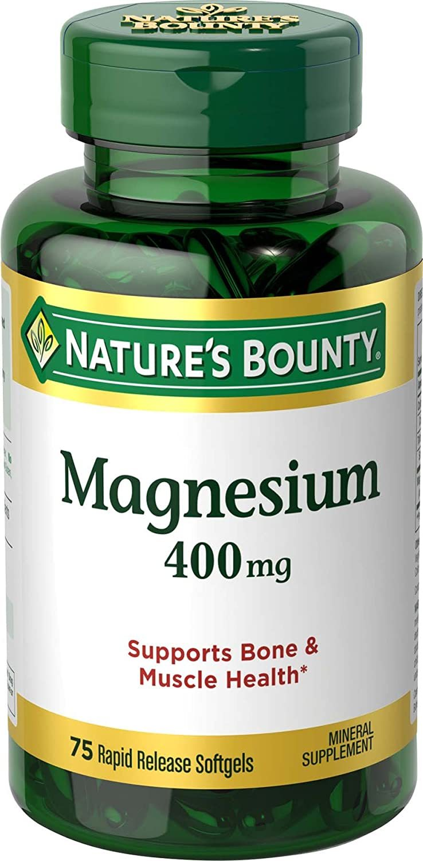 Nature's Bounty Magnesium 400 mg, 75 Softgels - $9.75
