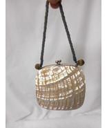 Vintage MOP Shell Expandable Vanity Dance Purse - $53.41
