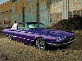 1966 Ford Thunderbird purple, 24 x 36 Inch Poster, - $21.77