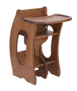 3-in-1 HIGH CHAIR Desk ROCKING HORSE Amish Handmade Children Furniture S... - $379.97