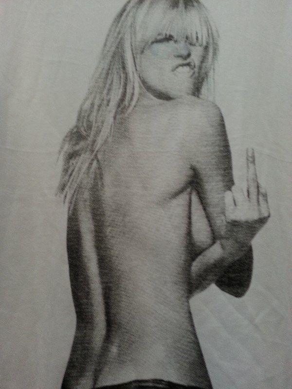 The Finger T shirt cotton white Small, Medium, Large, Xlarge image 2