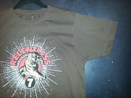 Relentless 7 seven T shirt Small Brown image 4