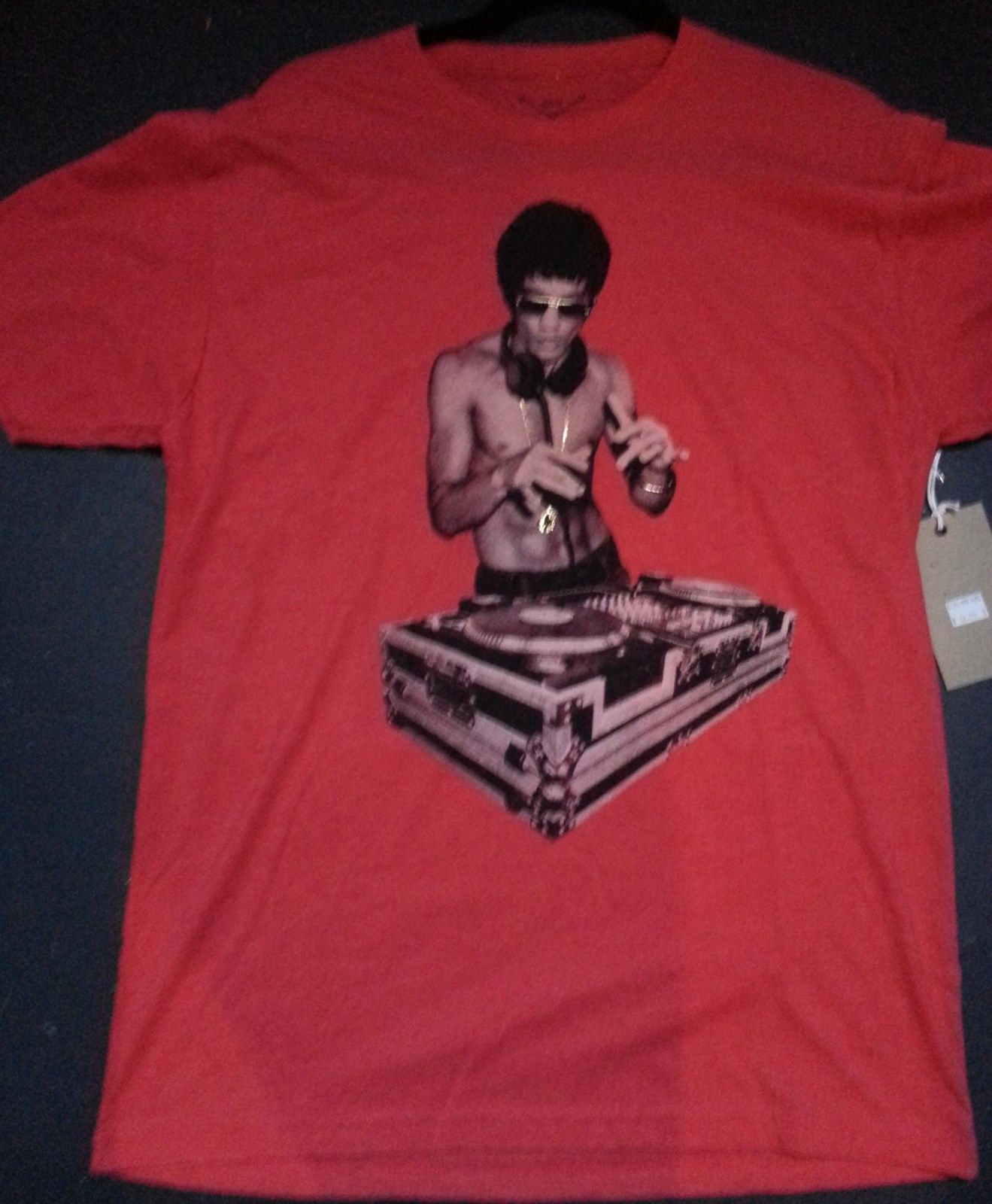 Bruce Lee DJ T shirt Brighter Red Special Edition Large