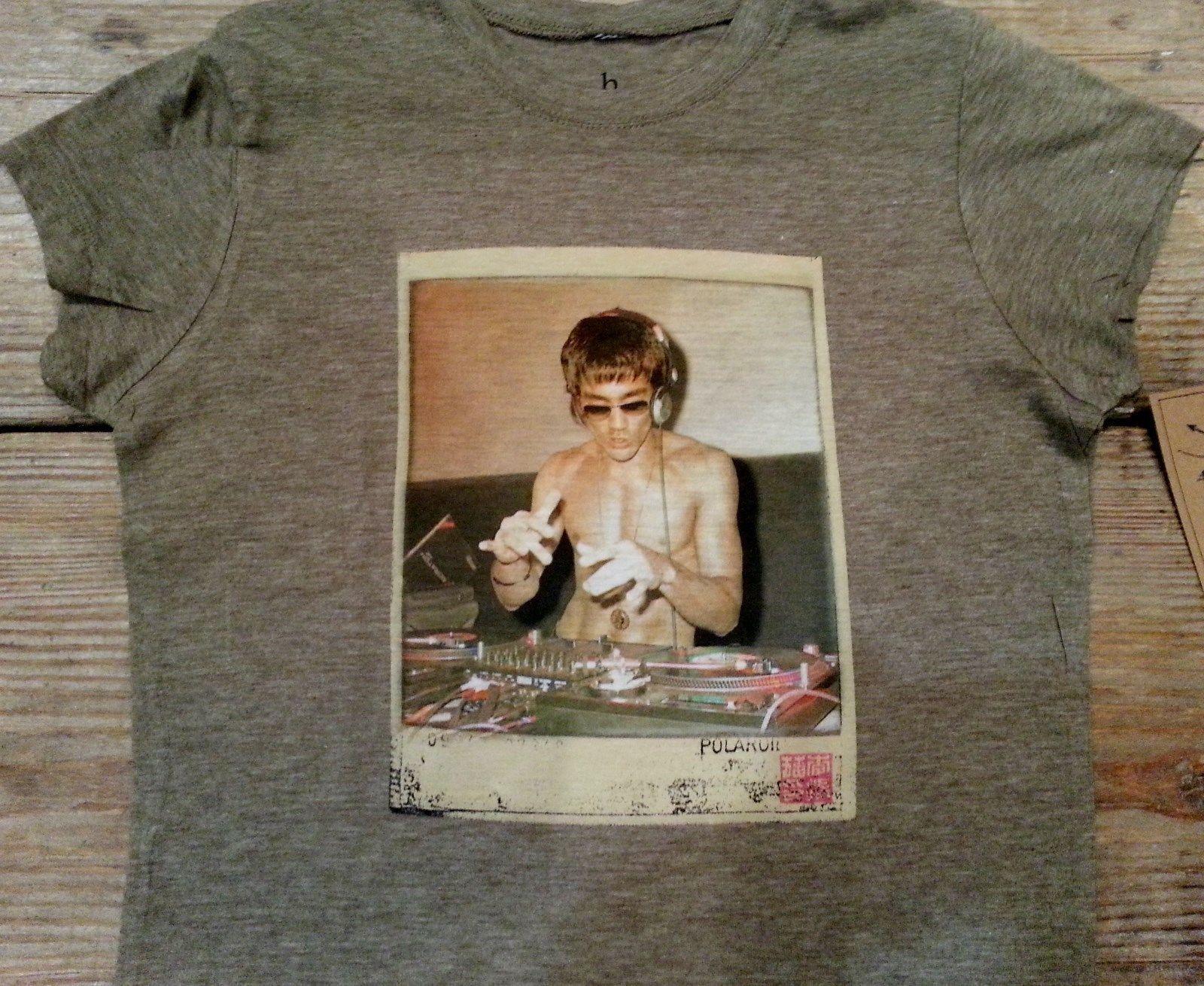 Bruce Lee DJ Womens T shirt Olive Green Small Rare!!!! image 2