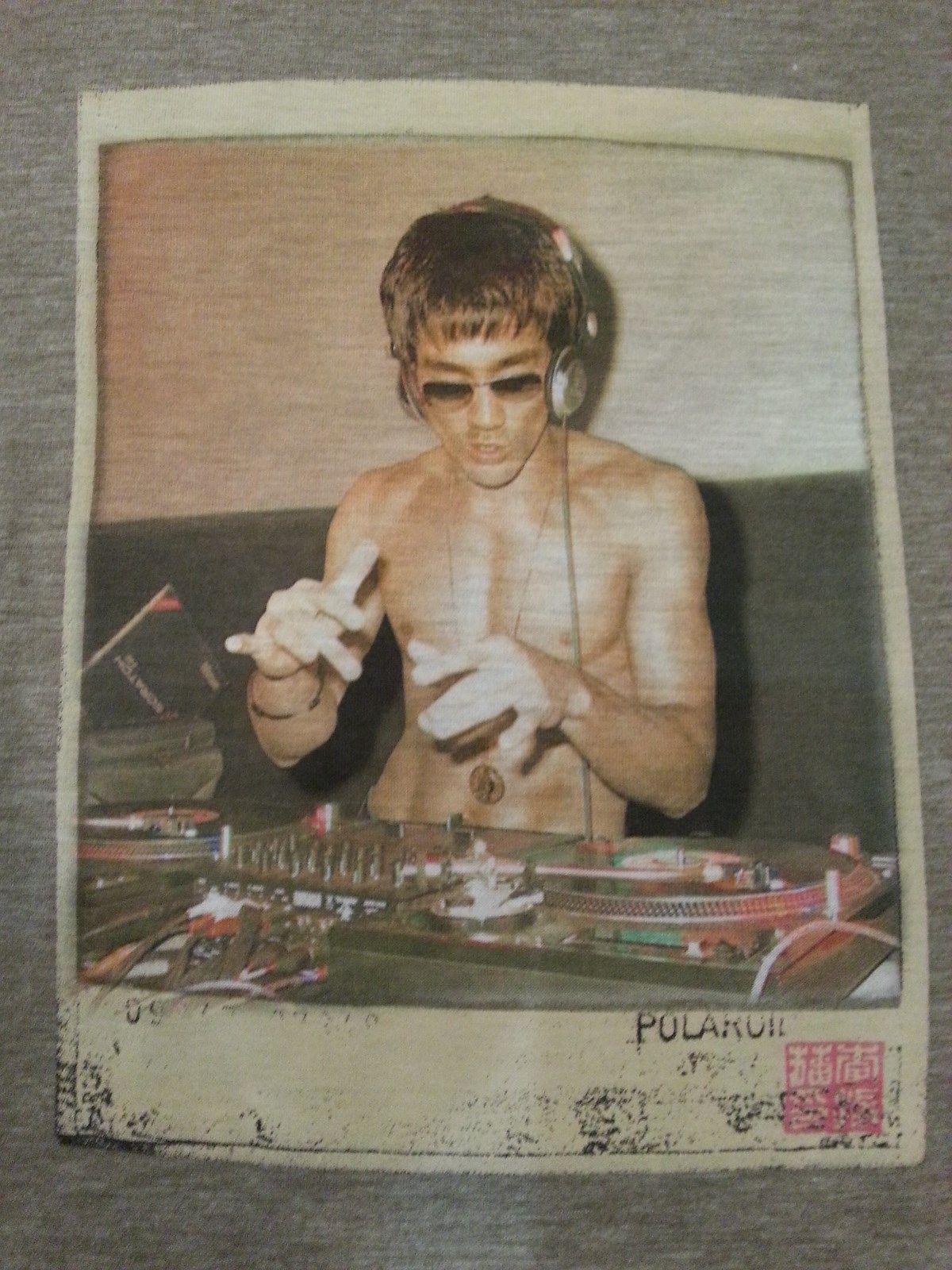 Bruce Lee DJ Womens T shirt Olive Green Small Rare!!!! image 3