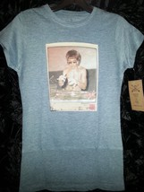 Bruce Lee DJ Womens T shirt heather blue Small or Large Rare!!!! image 2