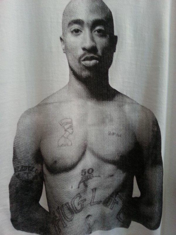 Tupac T shirt cotton white Small, Medium, Large, Xlarge