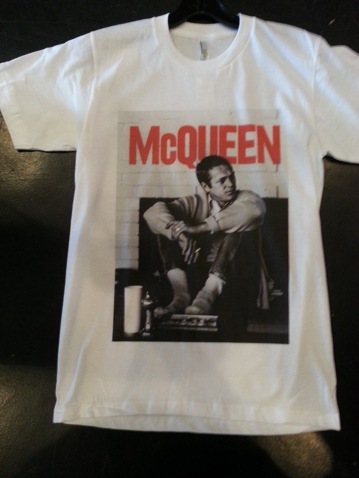 Steve Mcqueen T shirt cotton white Small, Medium, Large, Xlarge American Apparel