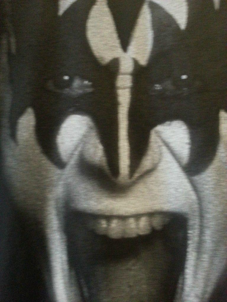 Kiss Nylon Rocker T shirt Black Gene Simmons small medium large Xlarge XXL image 4
