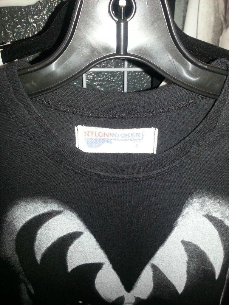 Kiss Nylon Rocker T shirt Black Gene Simmons small medium large Xlarge XXL image 3