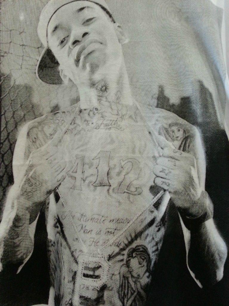 Wiz Khalifa T shirt white small  cotton image 3