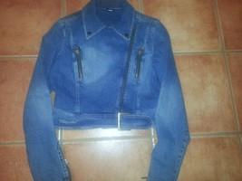 FUBU denim jean jacket women XL image 1