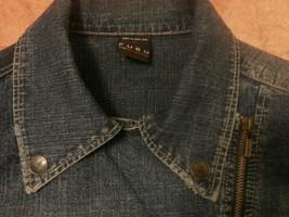 FUBU denim jean jacket women XL image 2