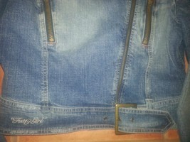 FUBU denim jean jacket women XL image 3